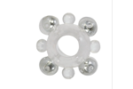 California Exotic Basic Essentials Enhancer Ring with Beads - Cock ring with pleasure beads.