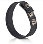 California Exotic COLT Adjustable 3 Snap Leather Strap - Adjustable erection enhancement ring.