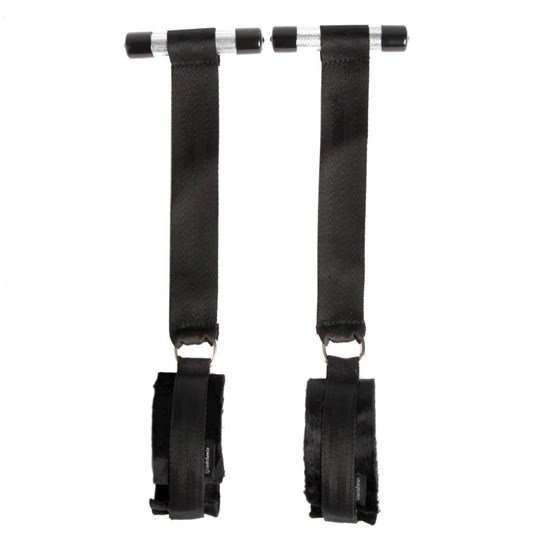 Sportsheets Door Jam Cuffs - A set of bondage cuffs that'll turn any door into a bondage playground.