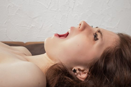 Woman enjoying an orgasm