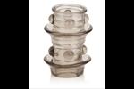 California Exotic Dr. Joel Kaplan Beaded Girth Ring Dual Stacker - Erection enhancement ring.