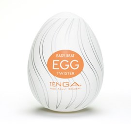 TENGA EGG TWISTER - A soft, pliable male pleasure sleeve that is uniquely packaged in an egg.