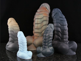 Flint the Uncut Studded Dragon - Flint the Uncut Studded Dragon is a dildo produced by Bad Dragon.
