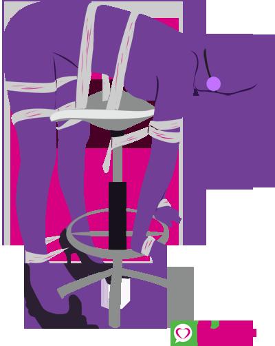 Bent over chair bondage sex position