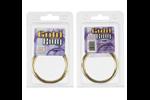 California Exotic Gold Ring Small - Metal adornment rings.