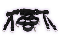 Sportsheets Under the Bed Restraint System - The perfect bondage set that can stay tucked away under the bed but ready for use at any time.