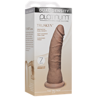 "Doc Johnson Platinum The Tru Ride SLIM 9 inch - Caramel - This 9"" realistic dildo has a firm silicone core with a tapered phallic tip."