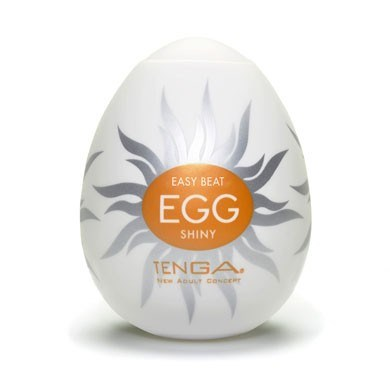 TENGA EGG SHINY - A soft, pliable male pleasure sleeve that is uniquely packaged in an egg.