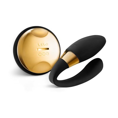LELO TIANI 24K - A vibrating couples' massager featuring a 24K gold laser-engraved ring.