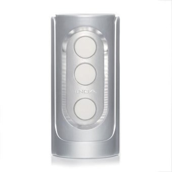 Tenga Flip Hole Silver - A male masturbation sleeve designed to deliver a tight squeeze and smooth, strong sensation.