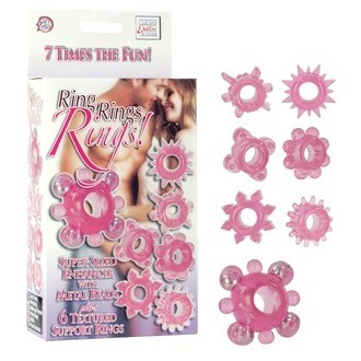 California Exotic Ring, Rings, Rings! - Erection enhancement ring set.