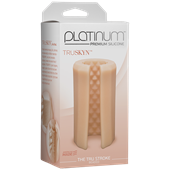 Doc Johnson Platinum The Tru Stroke Beaded - Vanilla - A completely flexible masturbation sleeve that allows you to hold it loose or squeeze it tight.