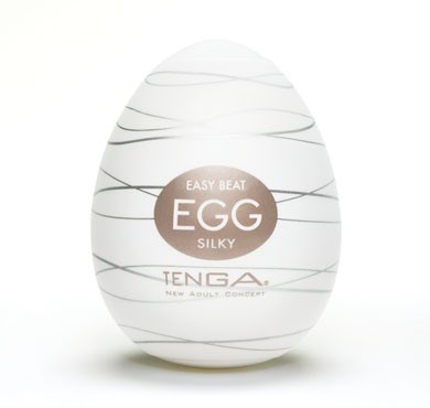 TENGA EGG SILKY - A soft, pliable male pleasure sleeve that is uniquely packaged in an egg.