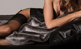 Liberator Fascinator Faux Fur Throe - A luxuriously sensual faux fur throw for added sensation
