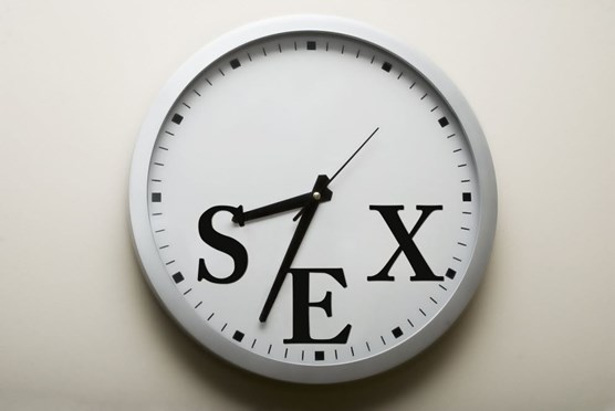 A clock displaying time for sex