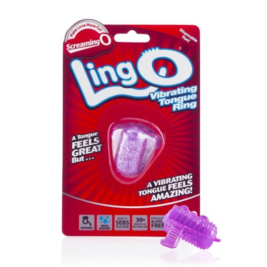 Screaming O LingO - The LingO turns your tongue into a human vibrator with the best vibrating tongue ring from Screaming O.