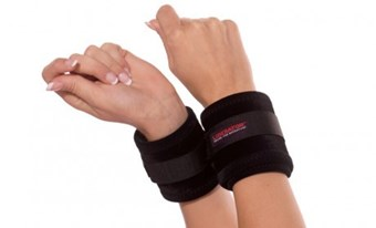 Liberator Plush Wrist Cuffs - A BDSM-friendly kit designed to fit comfortably around various wrist sizes.