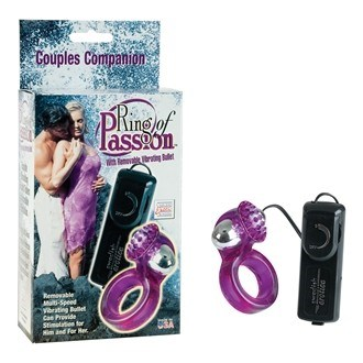 California Exotic Ring Of Passion - Couples vibrating enhancer ring.