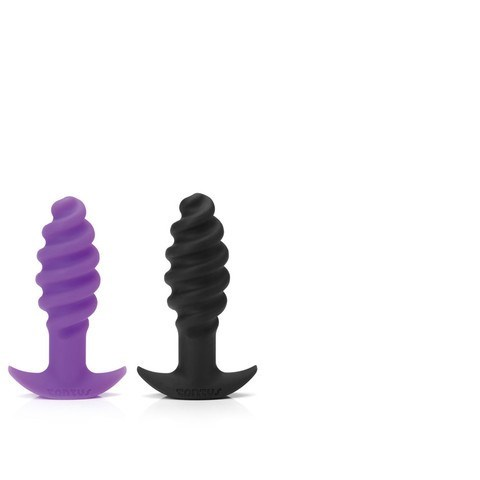 Tantus Twist - A uniquely shaped plug featuring thick swirls across the shaft.
