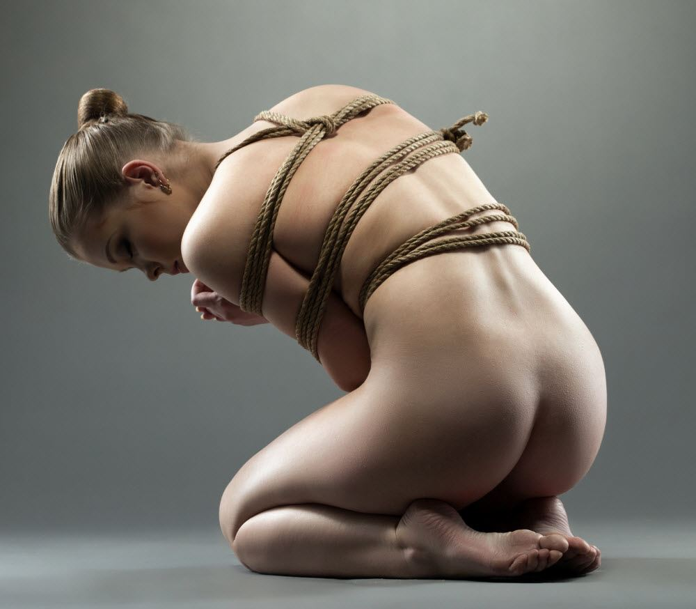 Sexy rope bdsm hogtied girls please