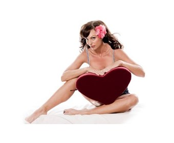Liberator Decor Heart Wedge - A heart-shaped pillow to facilitate deep penetration