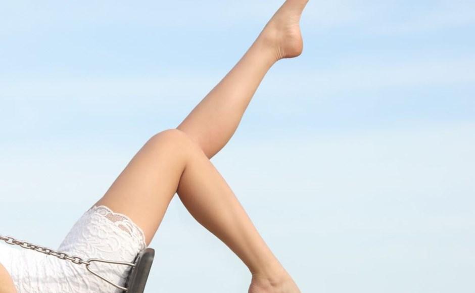 Woman on swingset
