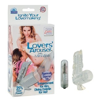 California Exotic Lover's Arouser - Dolphin - Vibrating erection enhancement ring.