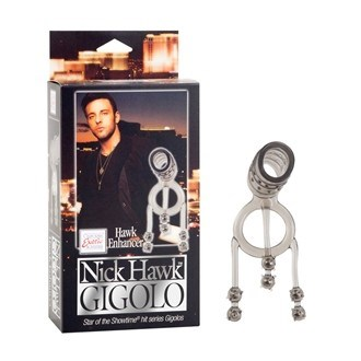 California Exotic Nick Hawk GIGOLO Hawk Enhancer - Erection enhancement ring with weighted stimulators.