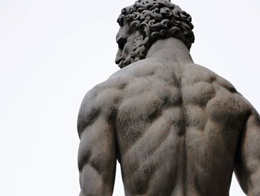 mastubation increase testosterone a statue with well defined muscles