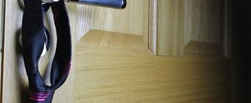 necktie on a doorknob