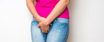 woman peeing pants