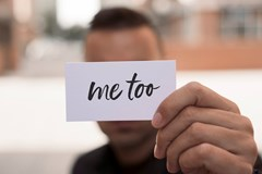 How can I support a male who has identified themselves to me as a sexual assault survivor?