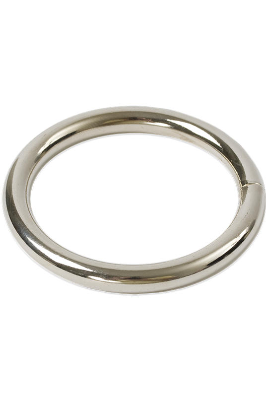Doc Johnson PLATED ADORNMENTS - 1.75 INCHES -   A heavy metal cock ring to intensify your pleasure