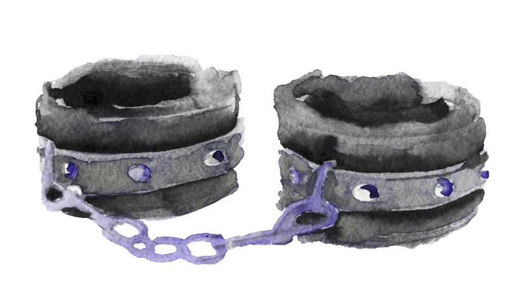 6 pc purple suede leather wrist ankle cuffs restraint leash
