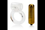 California Exotic Extreme Pure Gold Double Trouble Couples Enhancer - Vibrating erection enhancement ring.