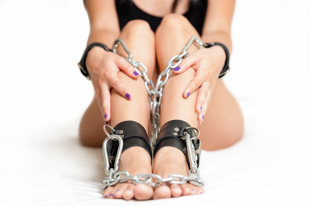 Theme tied up and fucked in high heels seems