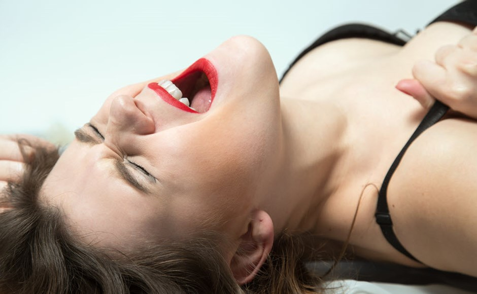 woman's orgasm face