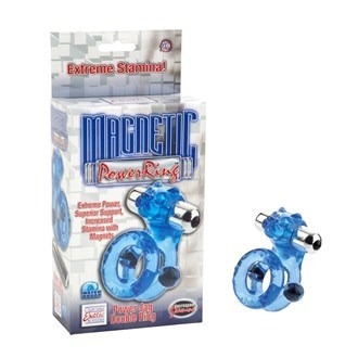 California Exotic Magnetic Power Ring Power Jag Double Ring - Erection enhancement ring.