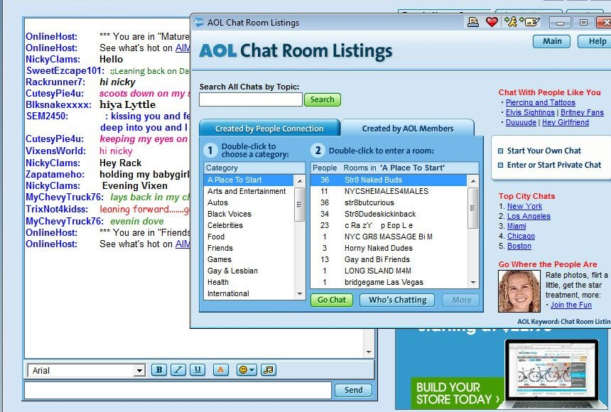 1990s sex chat room