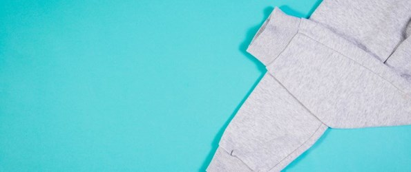 How to get your sexy back grey sweatpants on a turquoise background