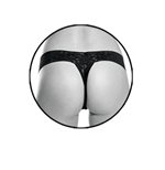 Pipedream Products Fetish Fantasy Series Limited Edition Remote Control Vibrating Panties - Bullet vibrator with thong-style underwear.