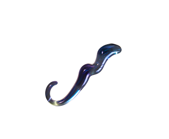 Unbound Stellar Dildo - A beautifully made glass dildo with stellar curves.
