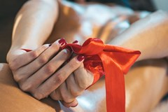 submissive woman tied hands